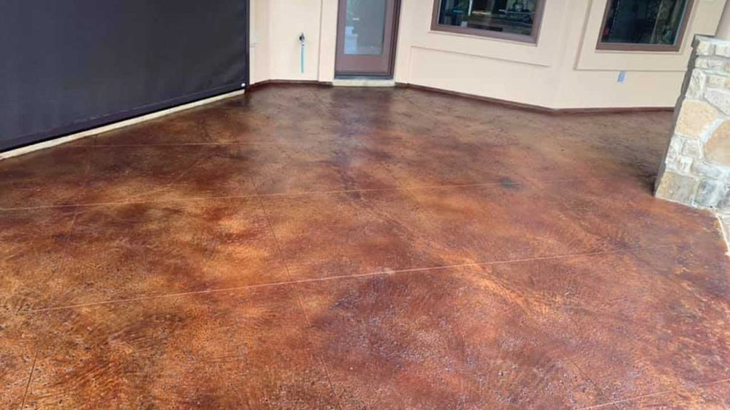 Outdoor Stained Concrete Floors In, Staining Outdoor Concrete Floors
